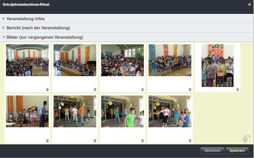 Bildschirmfoto von Bilder der Veranstaltung