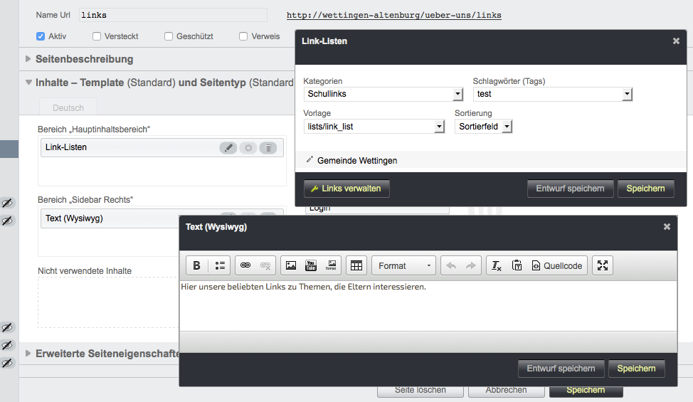Bildschirmfoto von Einführung