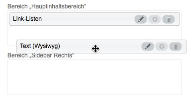 Bildschirmfoto von Inhaltswidget verschieben