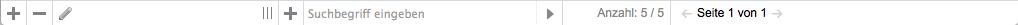 Bildschirmfoto von Statusleiste