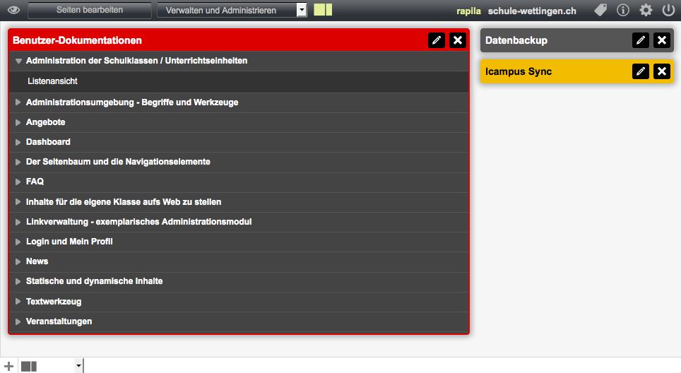Bildschirmfoto von Was ist das Dashboard?