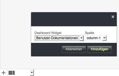 Bildschirmfoto von Widget hinzufügen