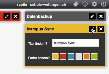 Bildschirmfoto von Farben setzen Akzente
