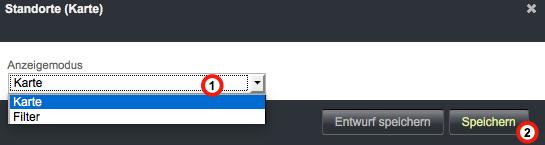Bildschirmfoto von Standort-Widget konfigurieren