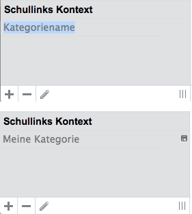 Bildschirmfoto von Linkkategorie erstellen