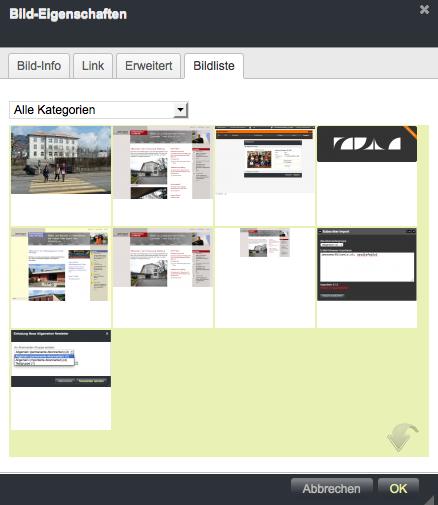 Bildschirmfoto von Bilder im Text